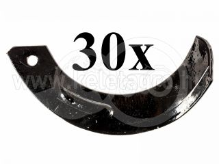 Rotary tiller blade for Japanese compact tractors Hinomoto, set of 30 pieces, SPECIAL OFFER! (0)