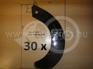 Rotary tiller blade for Japanese compact tractors Hinomoto, set of 30 pieces, SPECIAL OFFER! (4)