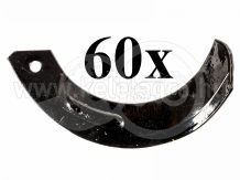 Rotary tiller blade for Japanese compact tractors Hinomoto, set of 60 pieces, SPECIAL OFFER!