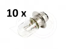Light bulb, 1 pin, 25/25W, 194155-55810, for Japanese compact tractors, set of 10 pieces, SPECIAL OFFER!